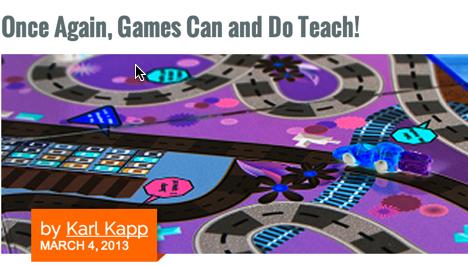 Karl Kapp Article on Gaming