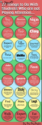 27 Things to do with Students Not Paying Attention