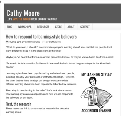 Cathy Moore on Learning Styles