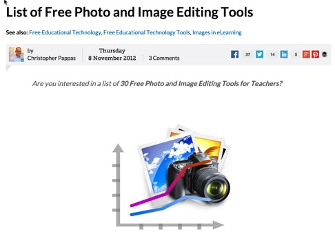 List of Free Photo Image Editors