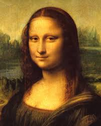 Face in the painting of the Mona Lisa